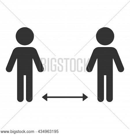 Social Distancing 2 Meter And 6 Feet Pictogram. Coronavirus 2019-ncov. Corona Virus Concepts. Corona