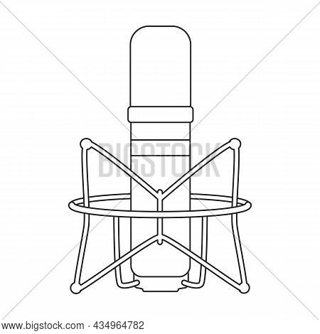 Mic Vector Icon.outline Vector Icon Isolated On White Background Mic.