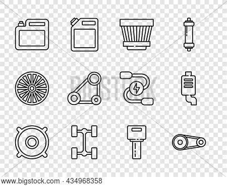 Set Line Car Audio Speaker, Timing Belt Kit, Air Filter, Chassis Car, Canister For Motor Oil, Key Wi