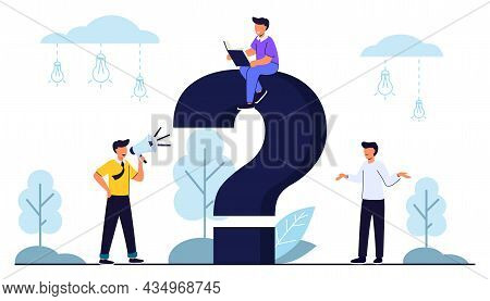Q And A Or Faq Concept With Tiny People Character Big Question Mark Frequently Asked Questions Templ