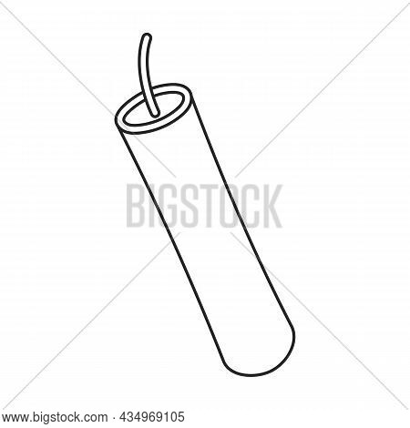 Explosives Vector Icon.outline Vector Icon Isolated On White Background Explosives.
