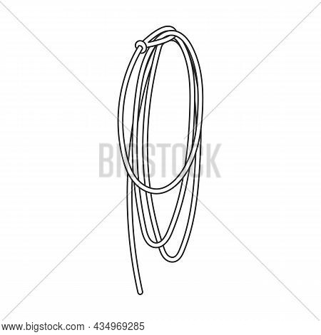 Lasso Vector Icon.outline Vector Icon Isolated On White Background Lasso.