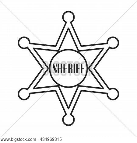 Star Sheriff Vector Icon.outline Vector Icon Isolated On White Background Star Sheriff.