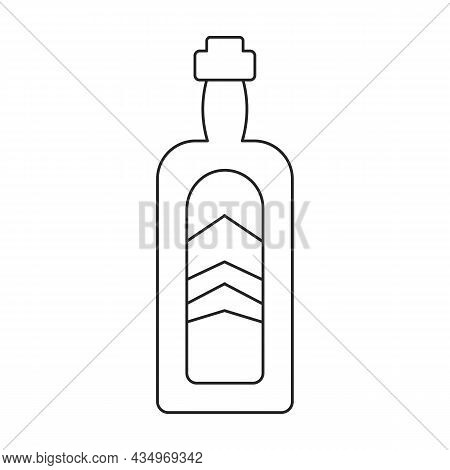Bottle Whiskey Vector Icon.outline Vector Icon Isolated On White Background Bottle Whiskey.