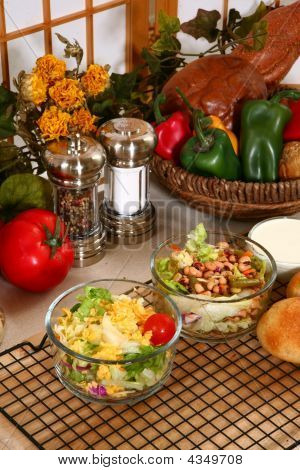 Pea And Lettuce Salads