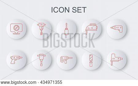 Set Line Electric Jigsaw, Cordless Screwdriver, Screwdriver, Rasp Metal File, Circular Blade, Electr