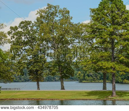 Beautiful View Of Lake Lamar Bruce State Park In Saltillo, Lee County, Mississippi