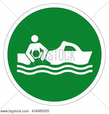 Rescue Boat Symbol Sign, Vector Illustration, Isolate On White Background Label. Eps10