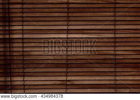Vintage wooden blinds for living room