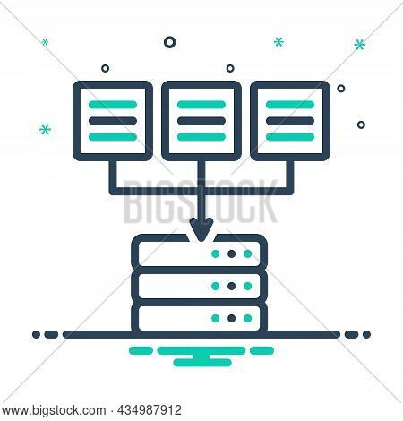 Mix Icon For Source Origin Wellspring Place-of-origin Data Authority Mainframe Database Software Sto