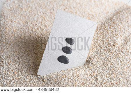 Minimal business card with zen stones in wellness concept