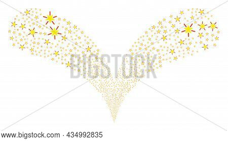 Bright Star Double Fireworks Fountain. Bright Star Explosion Double Fountain. Object Fountain Is Mad