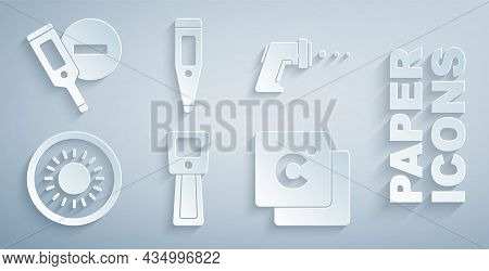 Set Digital Thermometer, Sun, Celsius, And Icon. Vector