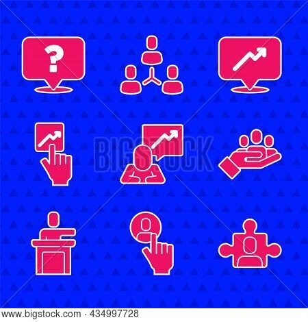 Set Team Leader, Head Hunting, Project Team Base, Hand For Search People, Speaker, Graph, Schedule,