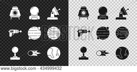 Set Mars Rover, Astronaut Helmet, Satellite Dish, Joystick, Comet Falling Down Fast, Earth Globe, Ra