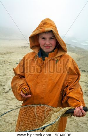 Boy With Fisherman's Coat