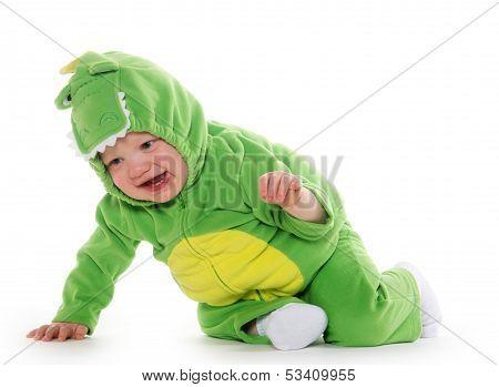 Baby Boy In Dragon Costume