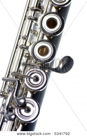 Flute Close-up Isolated On White