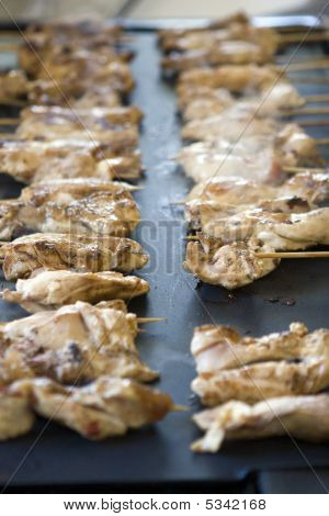 Chicken Cooking On Industrial Pan