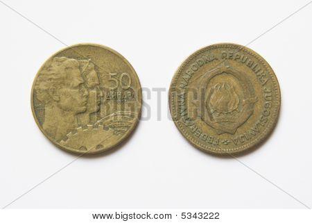 Yugoslav 50 Dinar Coins