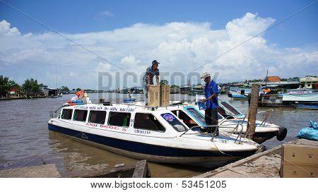 Speedboat At Port