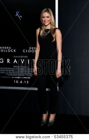 NEW YORK-OCT 1: Actress  Katrina Bowden attends the 'Gravity' premiere at AMC Lincoln Square Theater on October 1, 2013 in New York City.