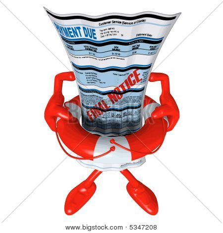 3D Vector Lifebuoy Concept