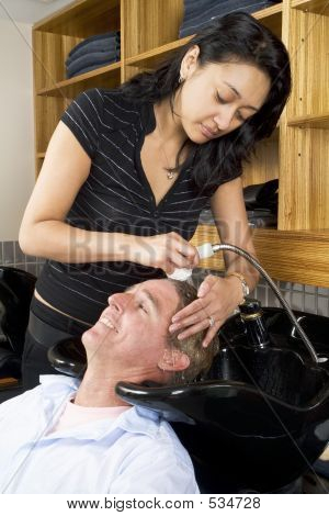 Washing A Man's Hair 1