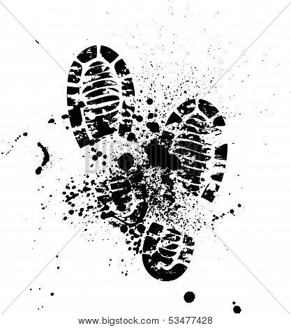 Shoes silhouette background