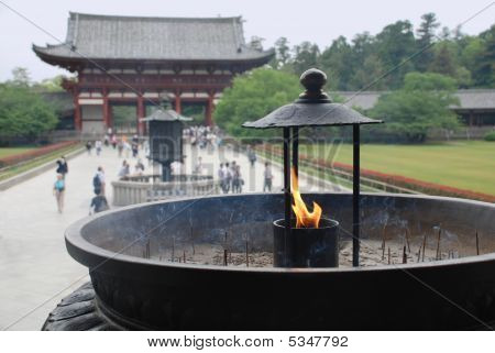Incense Burner At Todaiji Temple