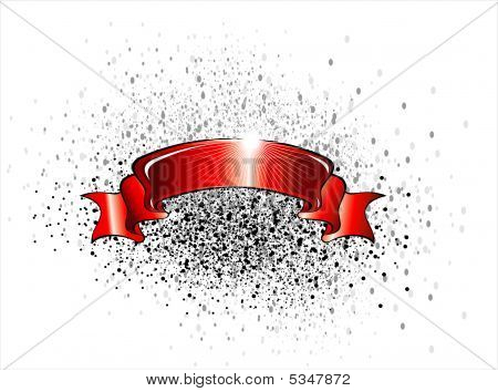 detailed Celebrate banner scroll ribbon with dirty background poster
