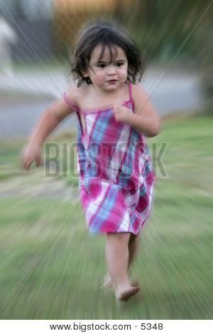 Child Running With Amazing Speed