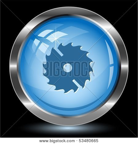Circ saw. Internet button. Vector illustration.