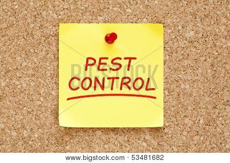 Pest Control Sticky Note