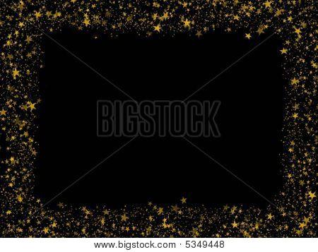 Gold Stars Frame
