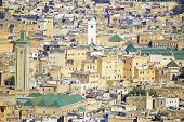 View of Kairaouine Mosque in Fes, Morocco, Africa poster