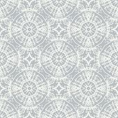 white lace on grey, clean and simple vector geometrical pattern, website background or fashionable textile, or holiday wrapping paper poster