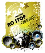 Music Event grunge style background with High Contrast Colors poster