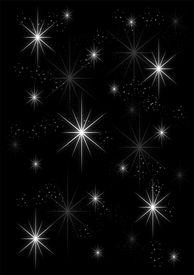 Background stars on black