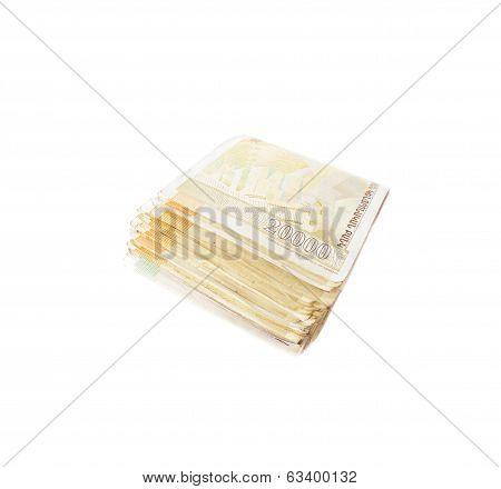 Banknotes of twenty thousand Armenian drams