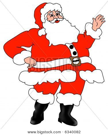 Santa Claus Christmas Father. Isolated vector illustration