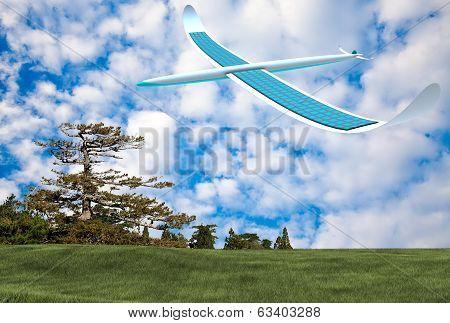 Solar energy airplane