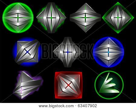 Abstract 3d   template  creative design set