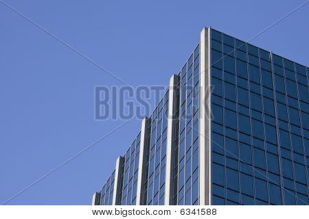Skyscraper's Edge with Blue Sky