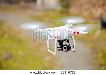 Gdansk, Poland - March 01, 2014: Drone With Camera