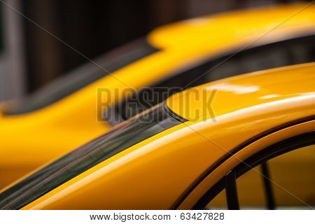 Taxi Cars Roof Detail