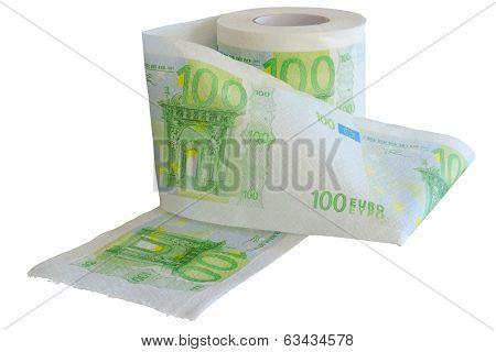 Devaluation - money depreciation. European banknotes.