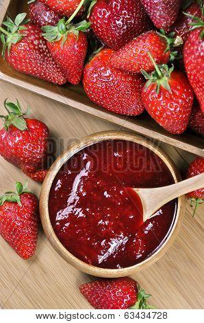 Strawberry jam or marmalade