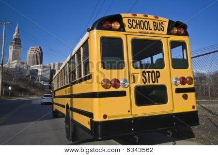 School Bus In Cleveland