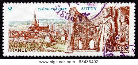 Postage Stamp France 2011 Autun, Saone-et-loire Department